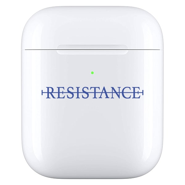 No resistance - Airpod case blauw